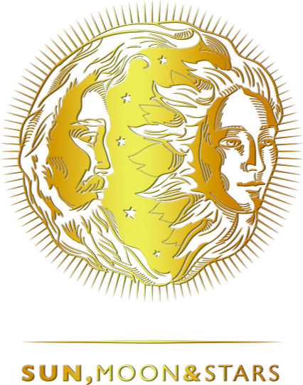 Sun, Moon & Stars zlatni logo
