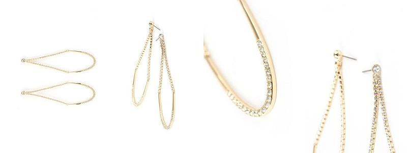 August minđuše – atraktivan model koji elegantno kombinuje bezvremene zlatne tonove sa sjajnim transparentnim kristalom pave obrade.