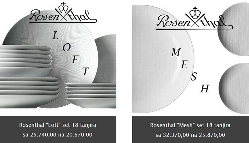 Rosenthal setovi tanjira